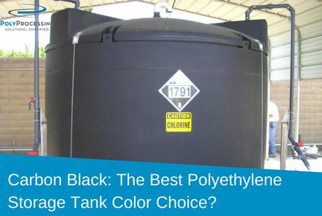 Black Polyethylene Storage Tanks