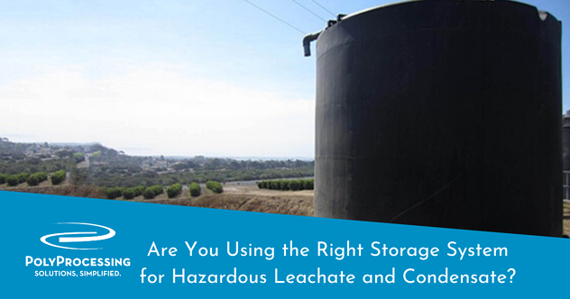Storing-leachate-and-condensate-in-poly-processing-tanks