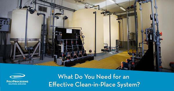 What Do You Need for an Effective Clean in Place System