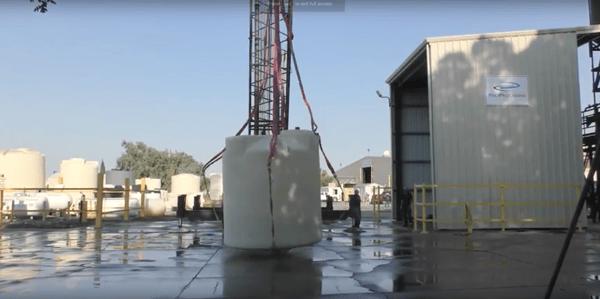 drop test crosslinked polyethylene tank