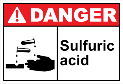 Danger-Sulfuric-Acid