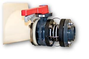 Photo of a flexible expansion joint and isolation valve