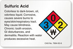 sulfuric acid storage