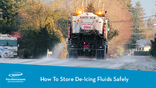 how to store de icing fluids safely