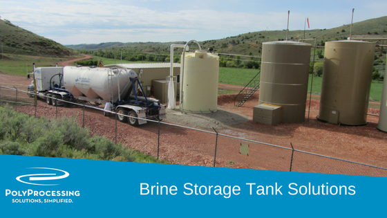 Brine storage tank solutions material and manufacturing